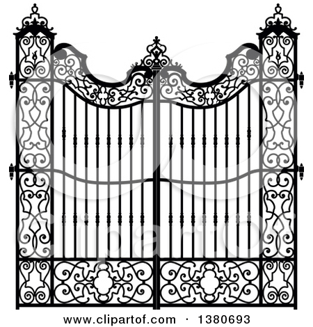 Wrought Iron Gates Clipart Clipground