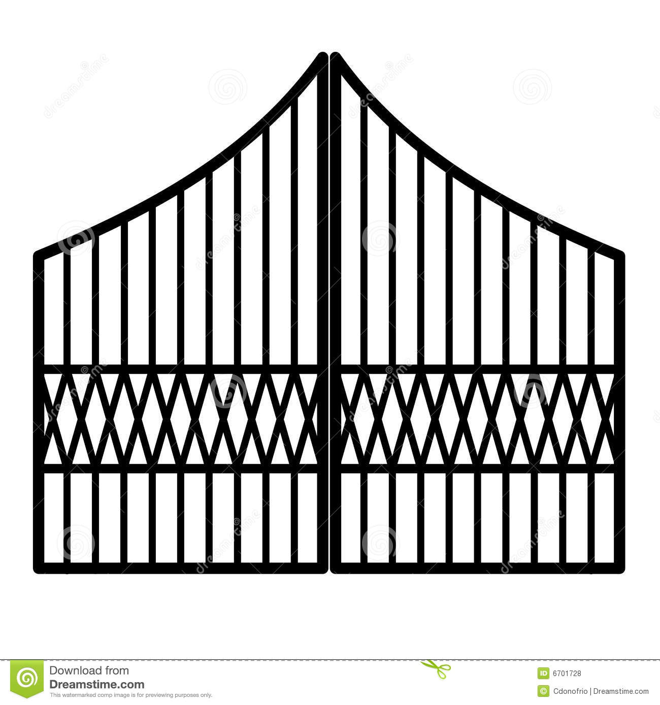 Iron gates clipart.