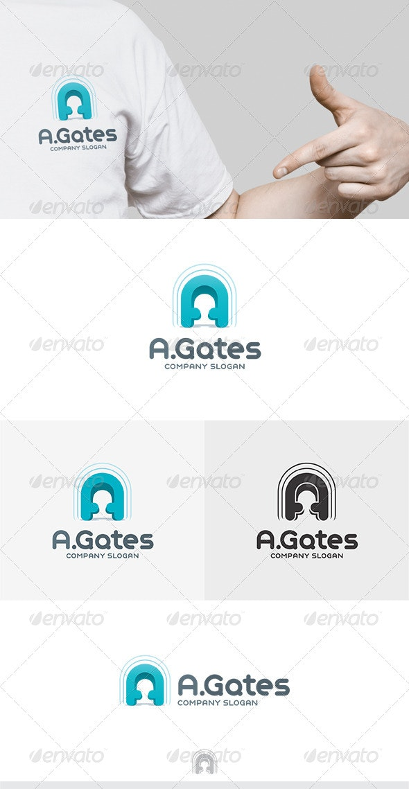 A Gates Logo.
