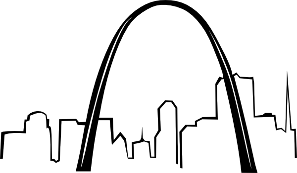 St Louis Gateway Arch clip art Free Vector / 4Vector.