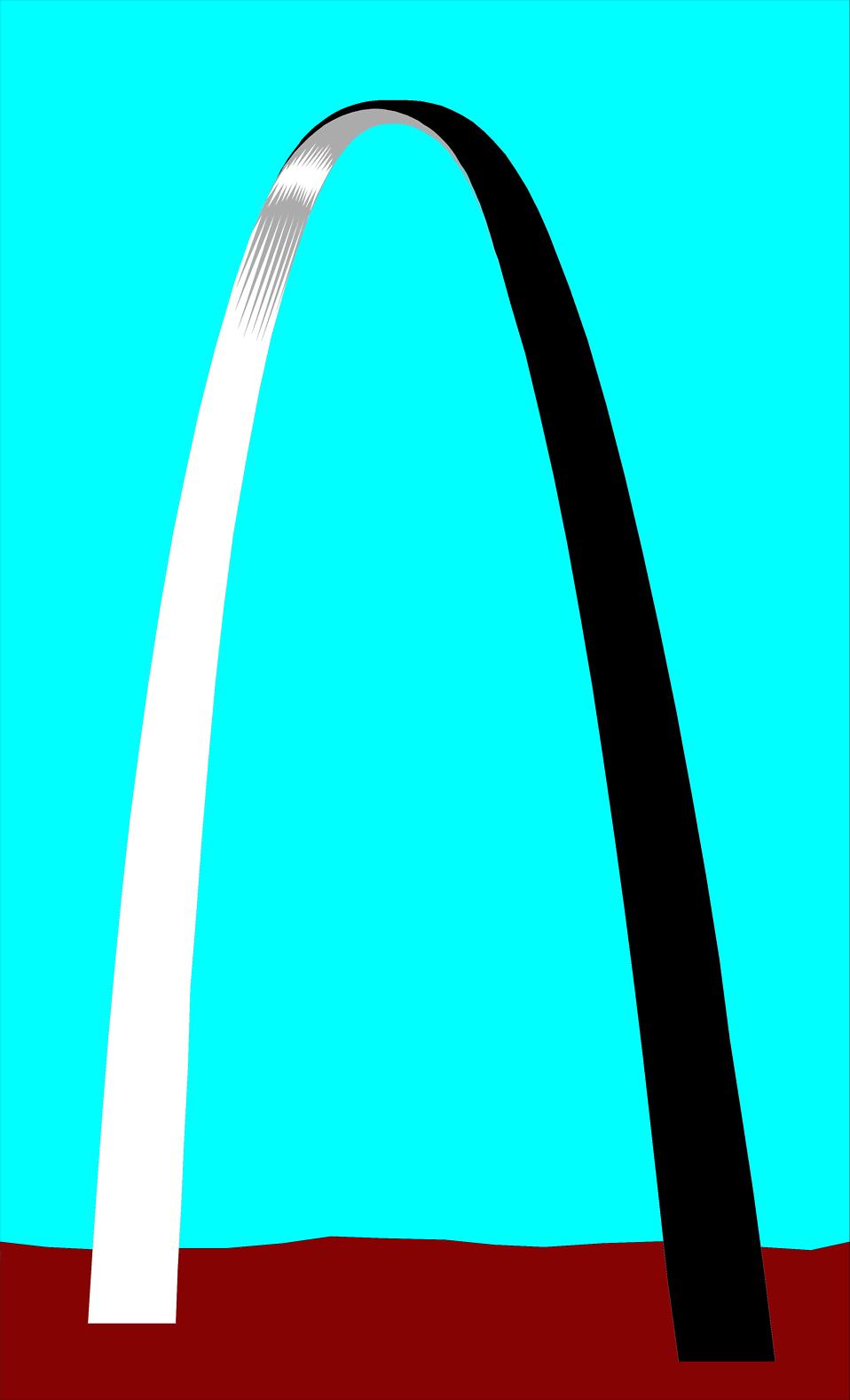 St louis arch clip art free.