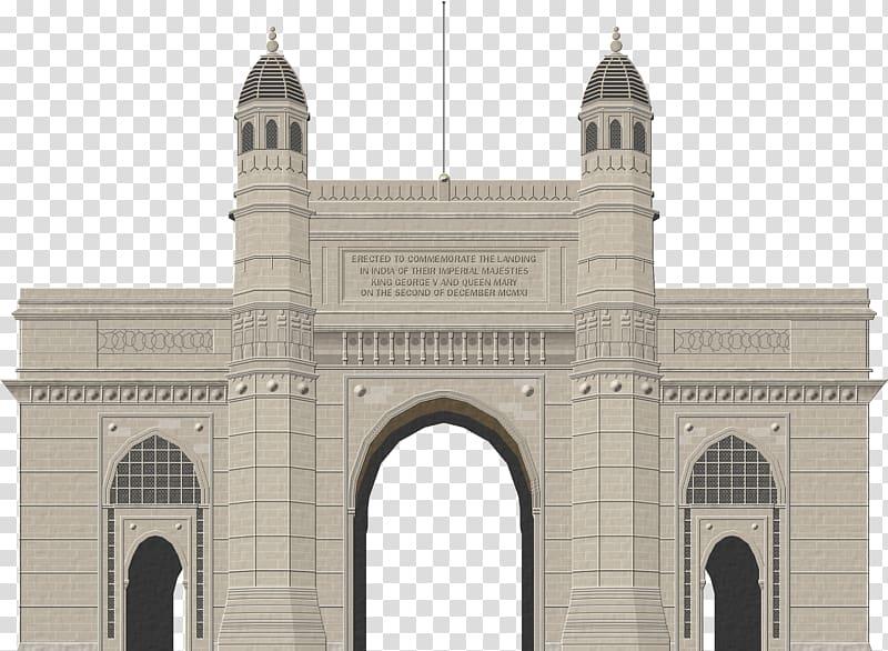 Gray concrete building illustration, Taj Mahal Gateway of.