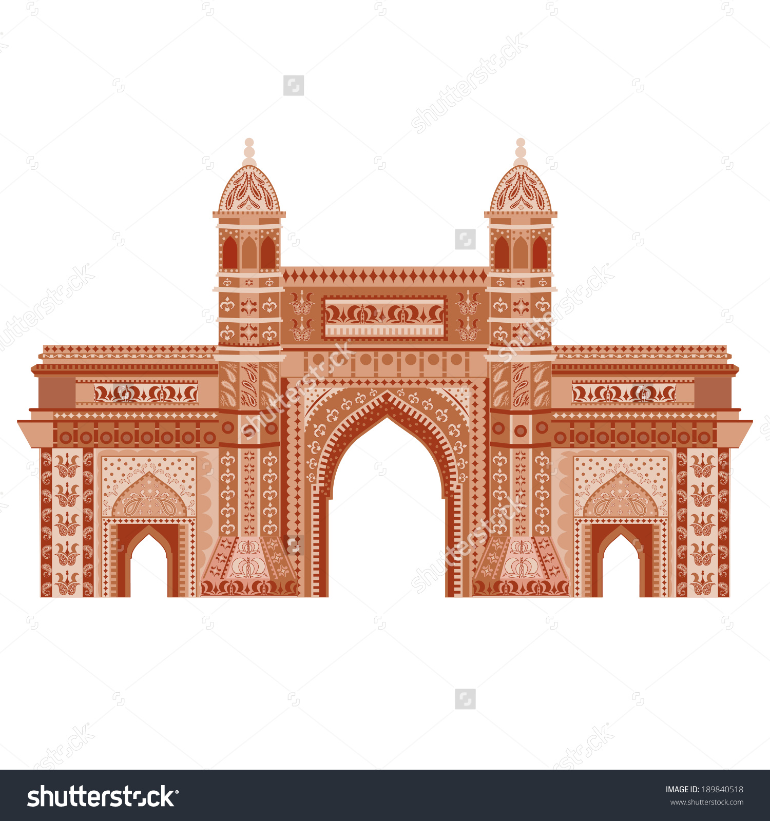 Gateway of india clipart #1