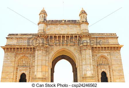 Stock Image of gateway to india shrine mumbai india.