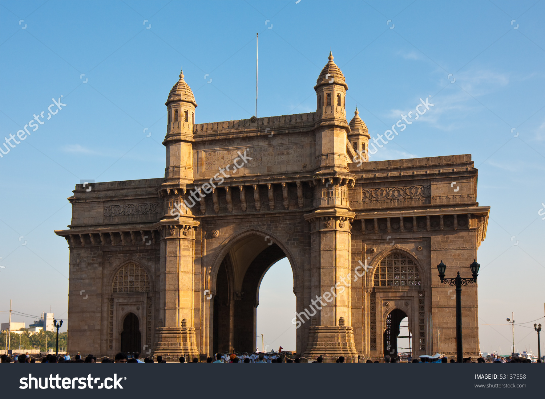 Gateway India Sunset Mumbai India Stock Photo 53137558.