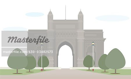 Gateway of india clipart #7