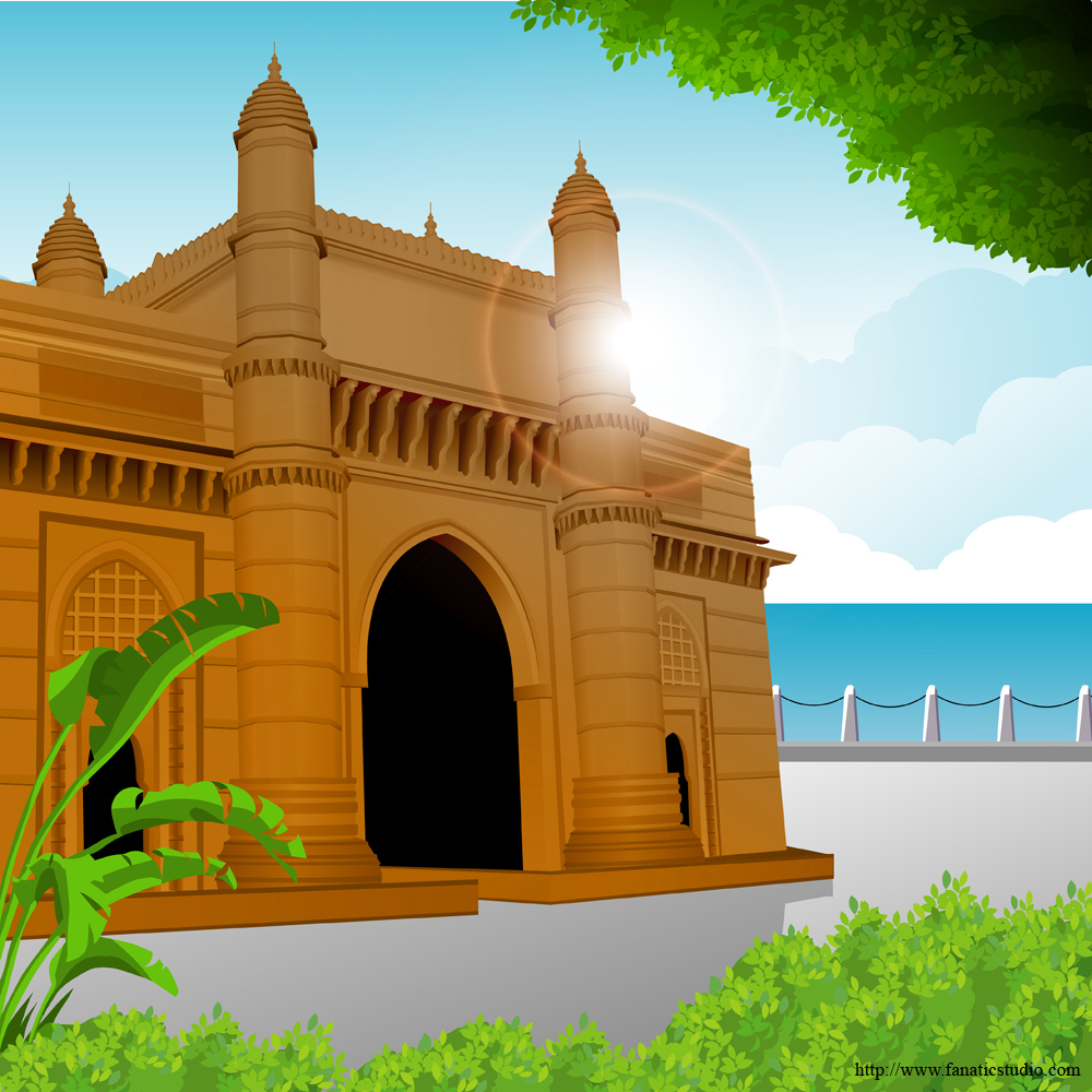 Gate of india clipart.