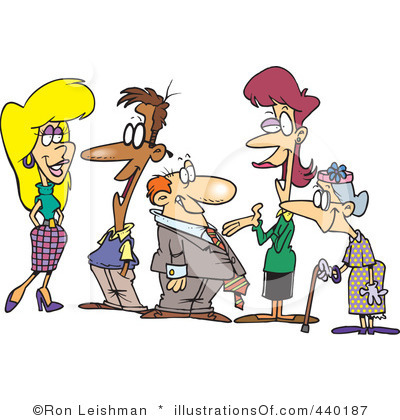 Friends Gathering Clipart.