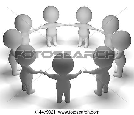 Stock Illustrations of Community Gathering k0063310.
