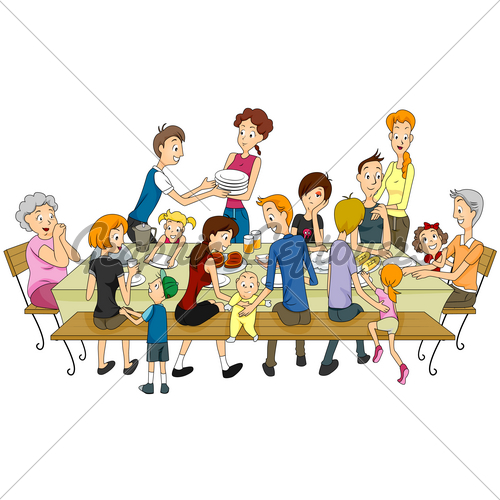 Family Gathering Clipart.