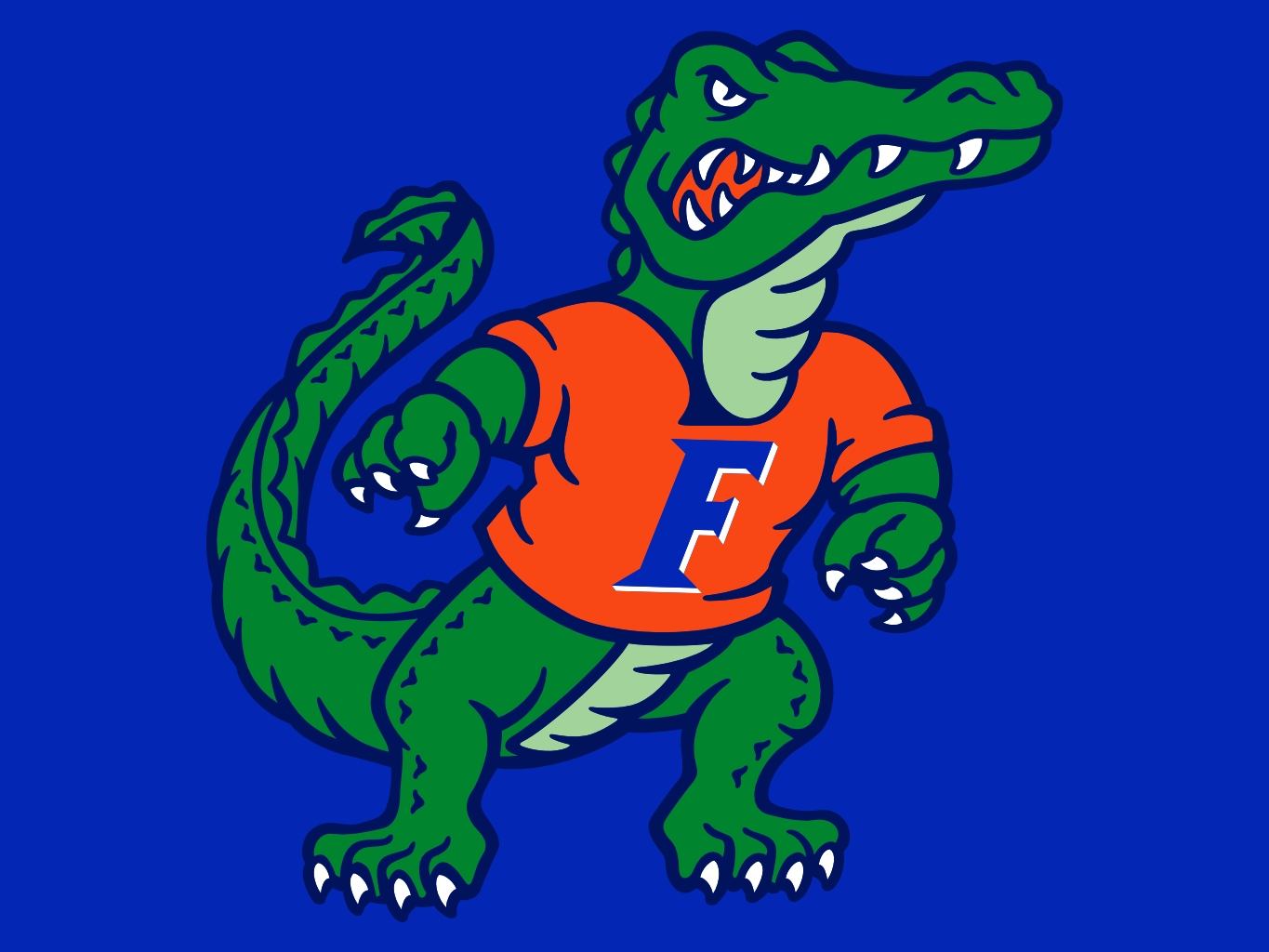 Florida gator football albert logo clipart.
