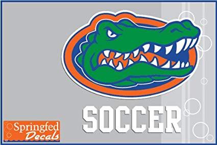 Florida Gators SOCCER w/ GATOR HEAD LOGO #2 Vinyl Decal Car Truck Window UF  Sticker.