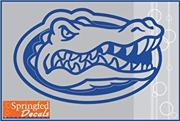 Florida Gators BLUE CUT VINYL GATOR HEAD LOGO 12\