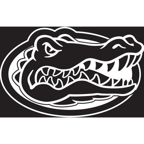 Florida Decal White Gator Head Logo 3.