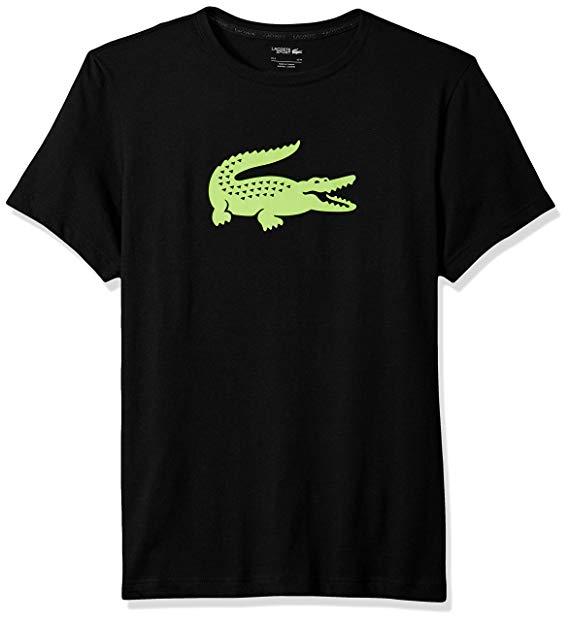 Lacoste Mens Sport Short Sleeve Jersey Tech W/Gator Graphic Logo T.