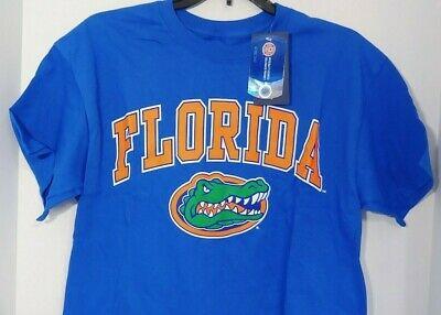 Florida Gators blue t shirt top Small Medium M Fanatics NEW gator head logo  Mens.