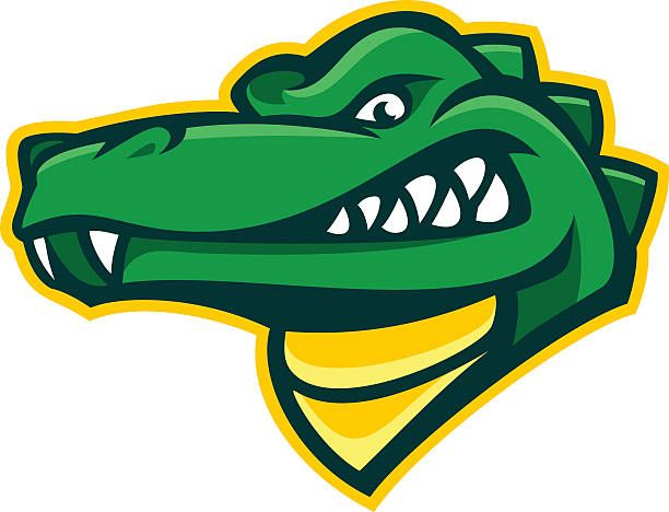 Alligator design element that is a great mascot for a sports.