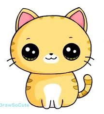 Resultado de imagen para como dibujar gatos kawaii.