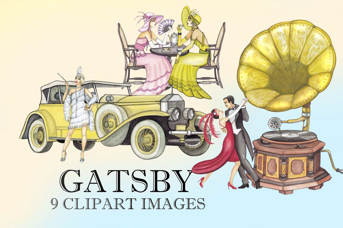Gatsby Clipart Images by Whimseez.