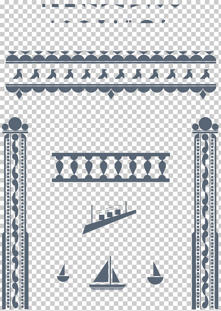 Art blog Pattern, great gatsby borders PNG clipart.