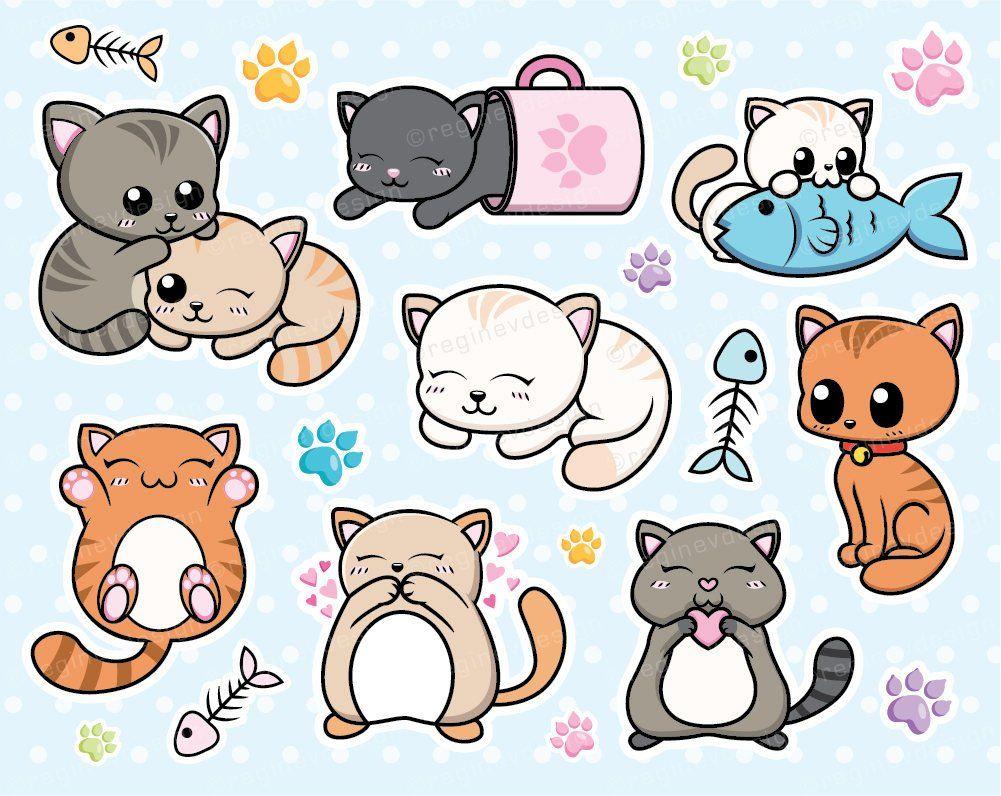 Gatto Clipart, gattino, gatti, Kitty, grafica vettoriale.