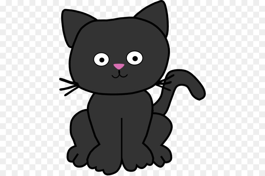 Gatto nero Gattino Clip art.
