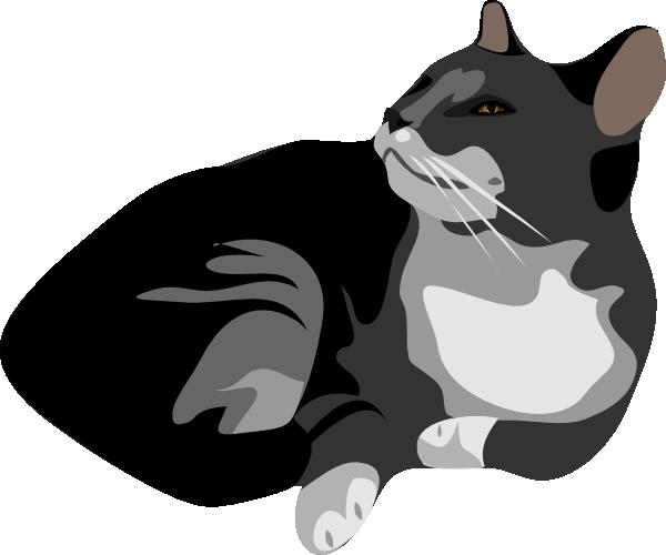 Gatto Cat Clip Art at Clker.com.