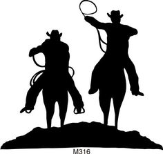free rodeo silhouettes.
