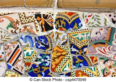 Picture of Gaudi mosaic background.