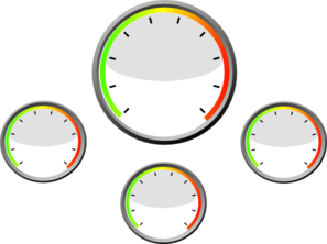 Four White Gauges Clip Art at Clker.com.