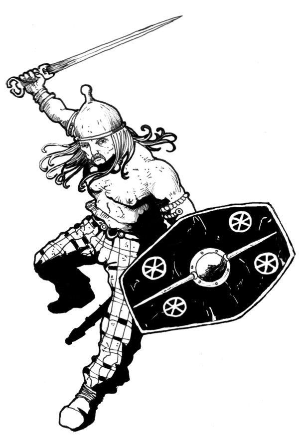Roman Warrior Art.