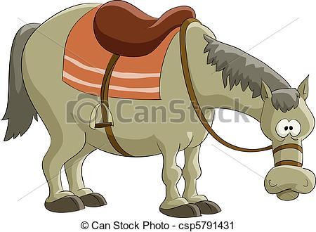 Vector Clip Art of Horse.