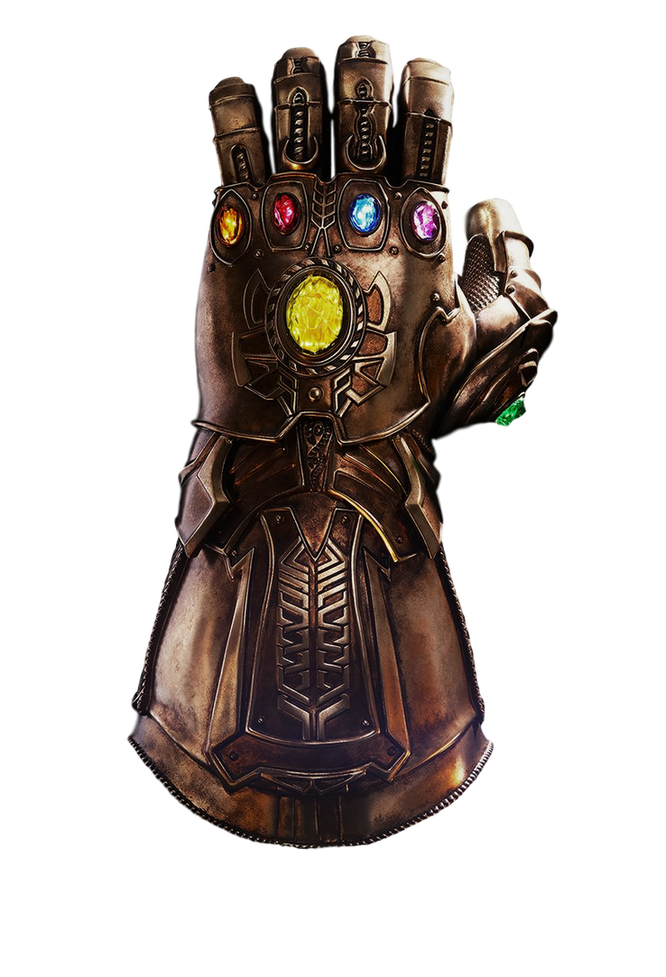 Infinity Gauntlet PNG Image Background.