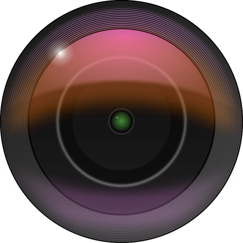 Vector clip art of camera lens with gaussian blur filters.