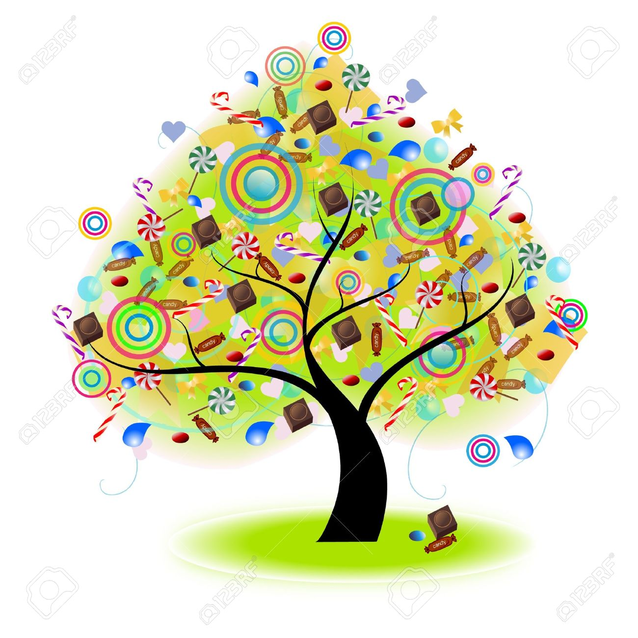 Tree Of Candy (vector).