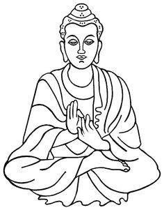 Clip Art of Lord Buddha.