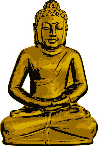 Golden Buddha Clip Art at Clker.com.