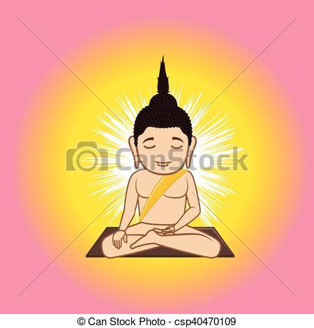 Vector Clipart of Gautama Buddha Vector Illustration csp40470109.