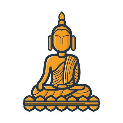 Clip Art Of Siddhartha Gautama Clip Art, Vector Images.