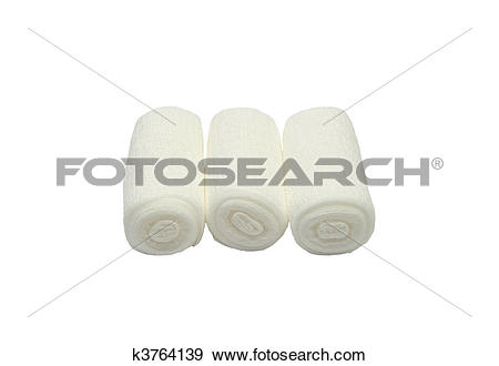 Stock Photograph of Gauze bandages k3764139.