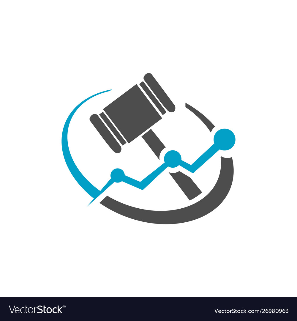 Law firm or legal office concept gavel logo.