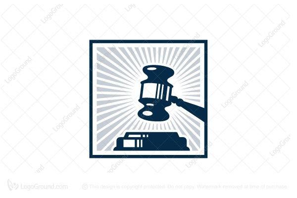 Exclusive Logo 25284, Law Office Gavel Logo.