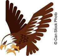 Vector Clip Art of Hawk.