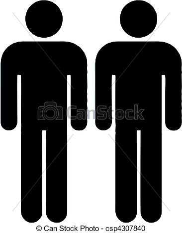 Vector Clipart of gay couple isolated vector illustration.