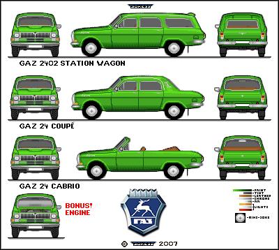 Pixel Car Art > GAZ 24 Fleet!1!one!eleven!.