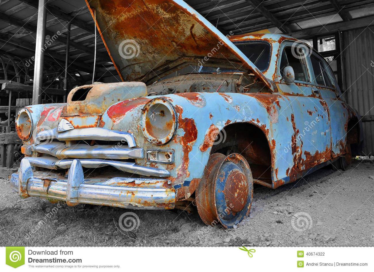 Gaz M20 Pobeda Junk Car Editorial Photography.