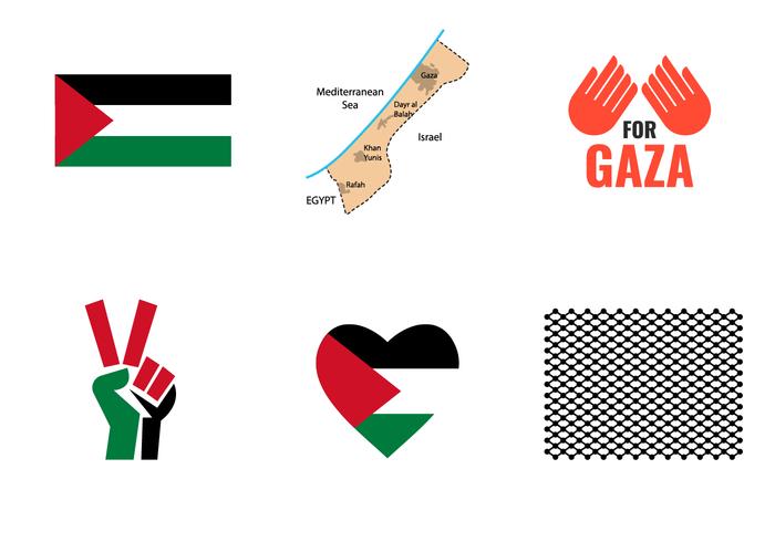 Gaza Symbol Vector.