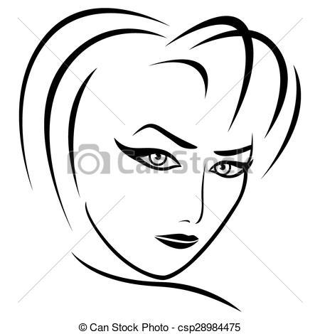 Vectors Illustration of Abstract female gaze.