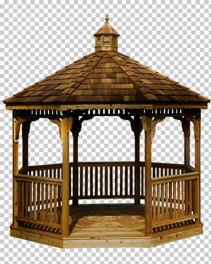 Gazebo Pergola Garden buildings Roof Deck, gazebo, brown.