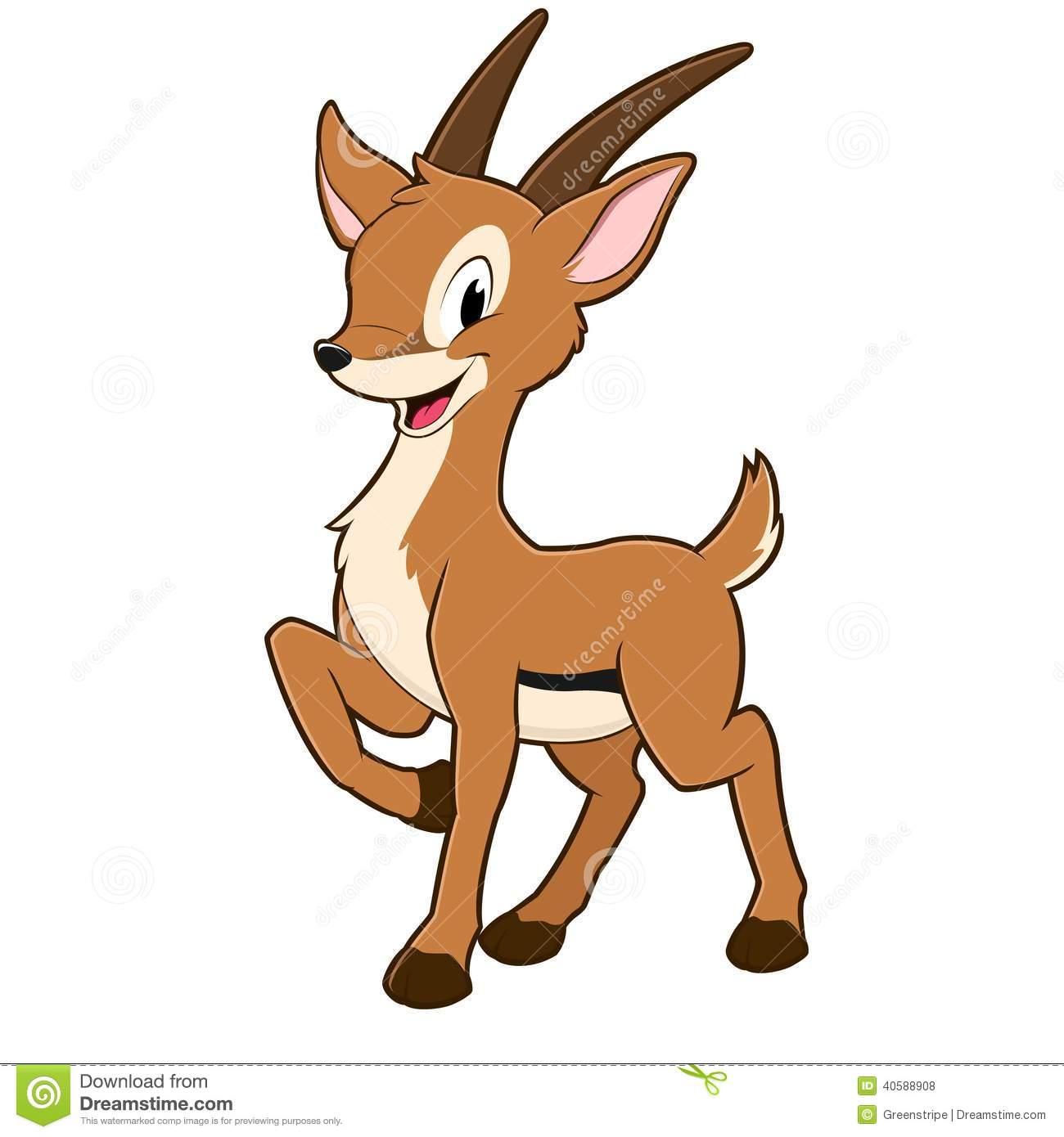 Cute Gazelle Clipart.